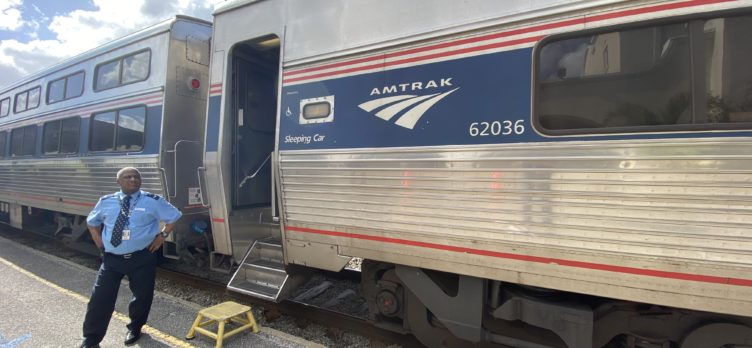 Amtrak Silver Meteor With Attendant