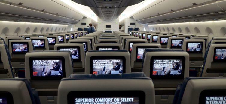 Delta Economy Class Rear IFE