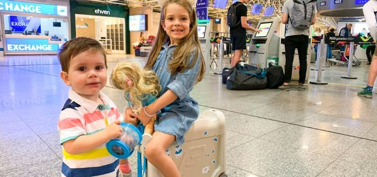 Children at Rio de Janeiro International Airport GIG Brazil