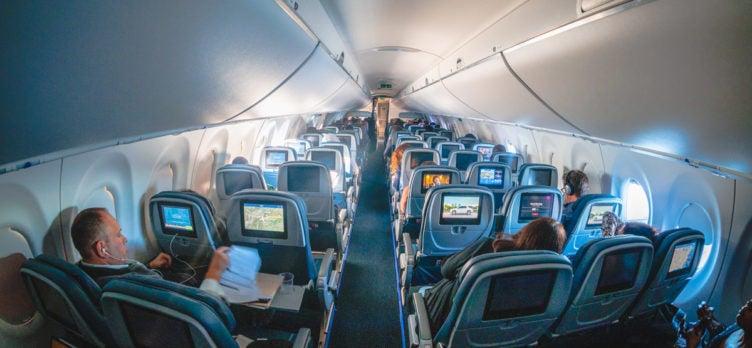 Delta Airbus A220 Economy Class Cabin