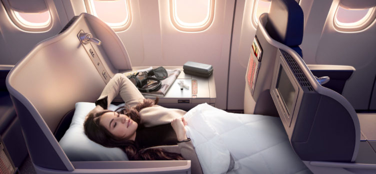 Delta One Passenger Sleeping