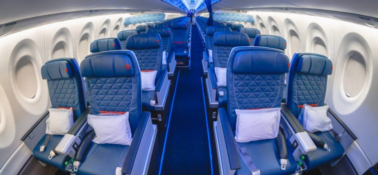 Delta Airbus A220 First Class Cabin