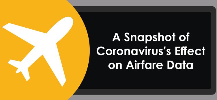 snapshot of airfare prices coronavirus