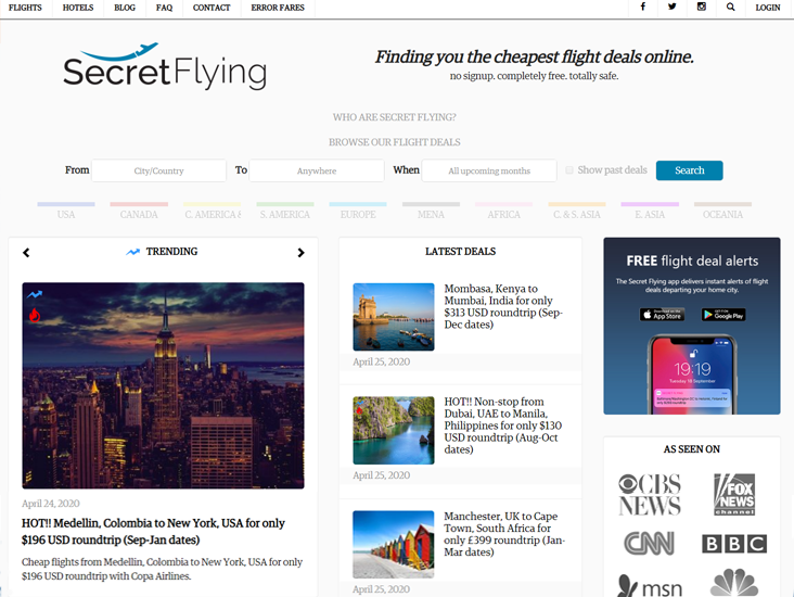 25 Best Websites Apps For Last Minute Travel Deals 2020