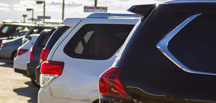 car rental parking lot