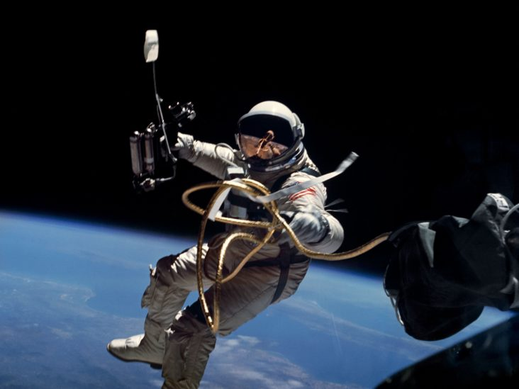 NASA Astronaut Edward White during first EVA performed during Gemini 4 flight