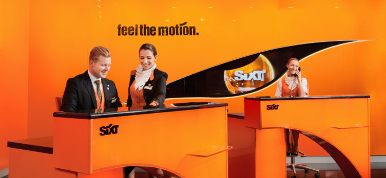 Sixt rental counter