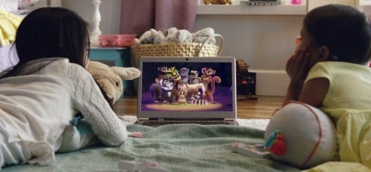 Kids Watching Netflix on Laptop