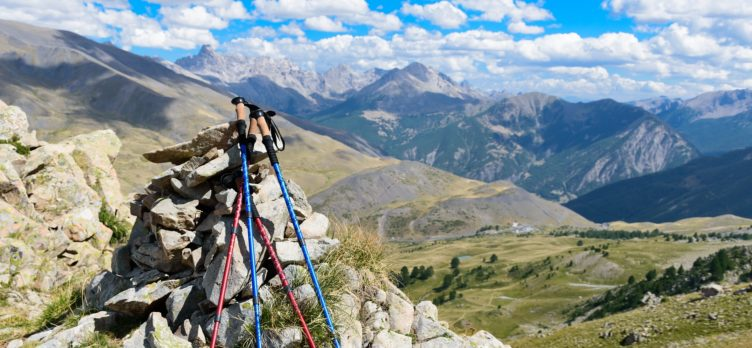 Hiking Poles on Mountain