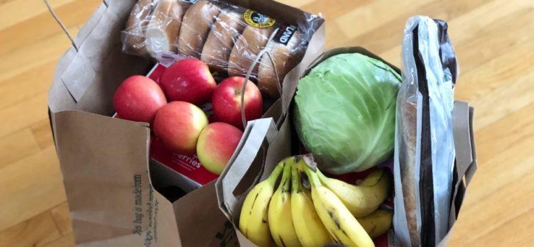 Groceries in bag