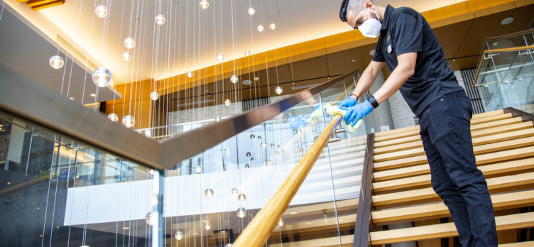 Hilton Hotels CleanStay Employee Cleaning