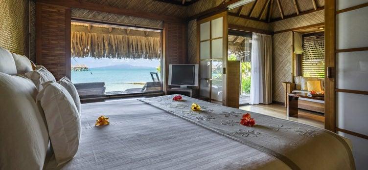 InterContinental Le Moana Bora Bora beach bungalow bedroom