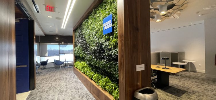 Amex Centurion Lounge PHX Green Wall
