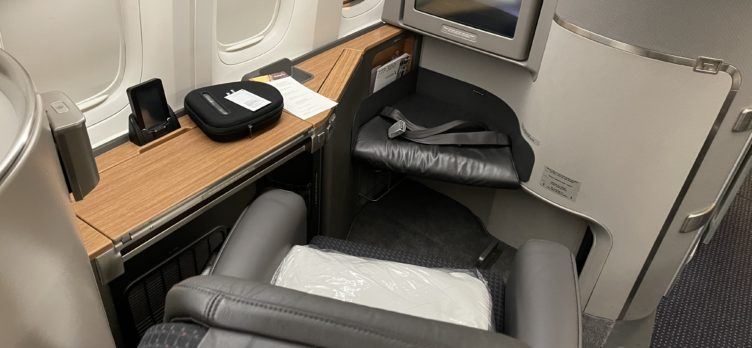 American Airlines 777 300ER First Class Seat with IFE