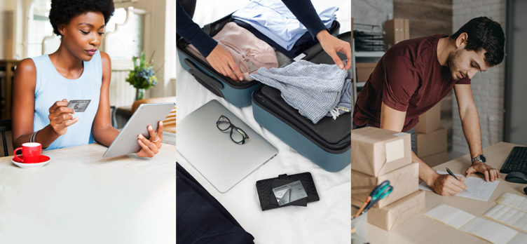 American Express online shopping packing for travel business owner