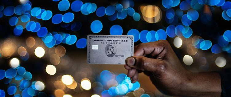 Amex Platinum Card at night