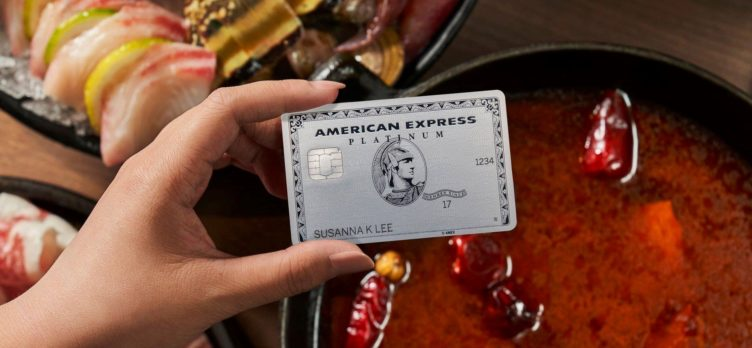 Amex Platinum card purchase at a restaurant