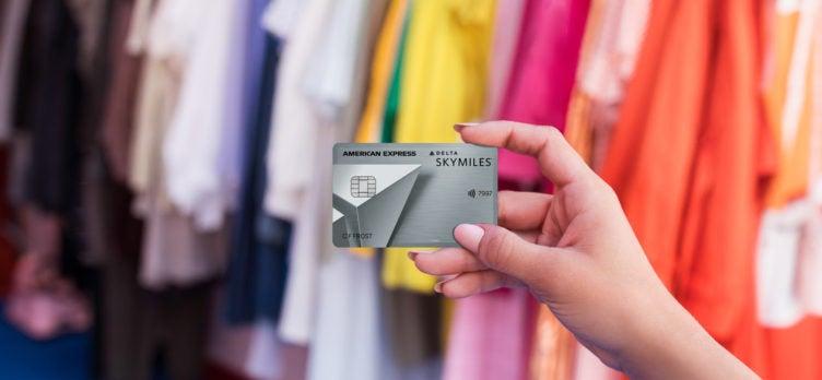 Delta Platinum card at clothes shop