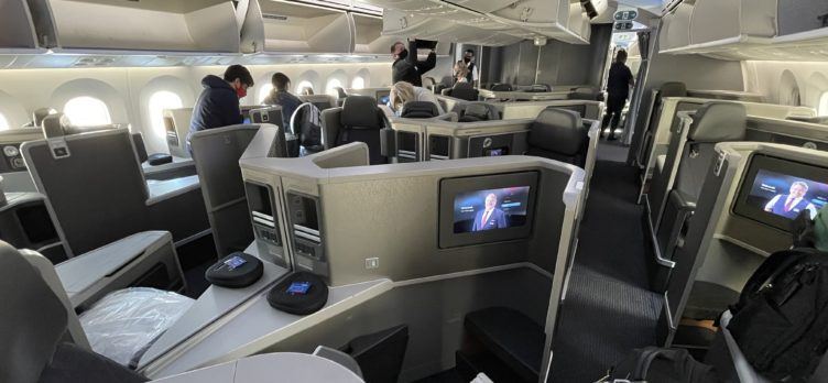 American Airlines 787 Business Class Cabin