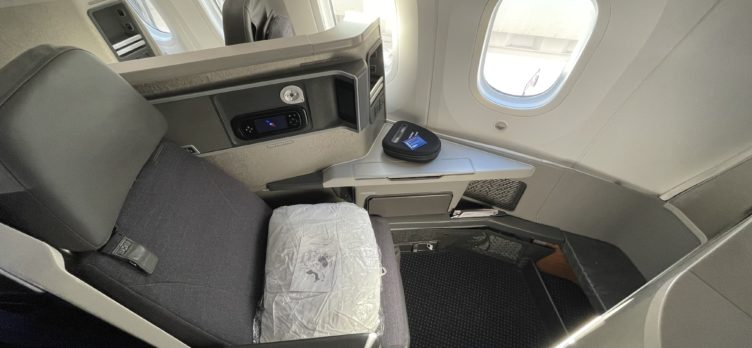 American Airlines 787 Business Class Seat Wide Angle