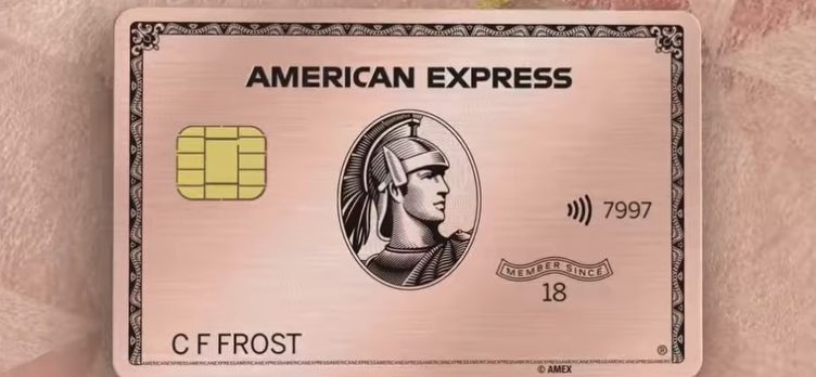 Amex Gold Card Rose Gold rose background