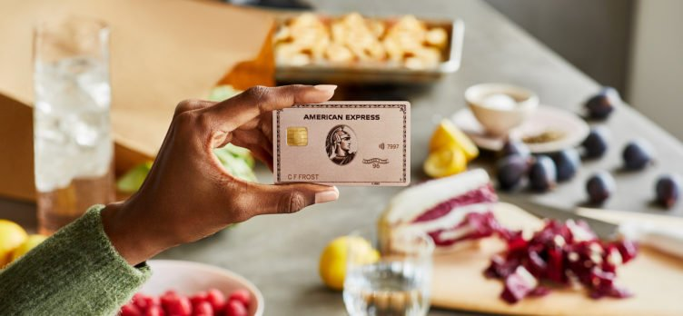Amex Gold Card Rose Gold with Uber Eats delivery