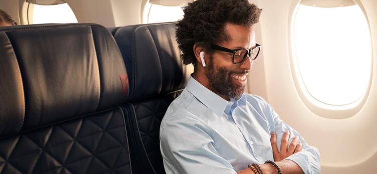 Delta Medallion Member on airplane