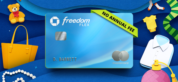 Freedom Flex card with shopping items