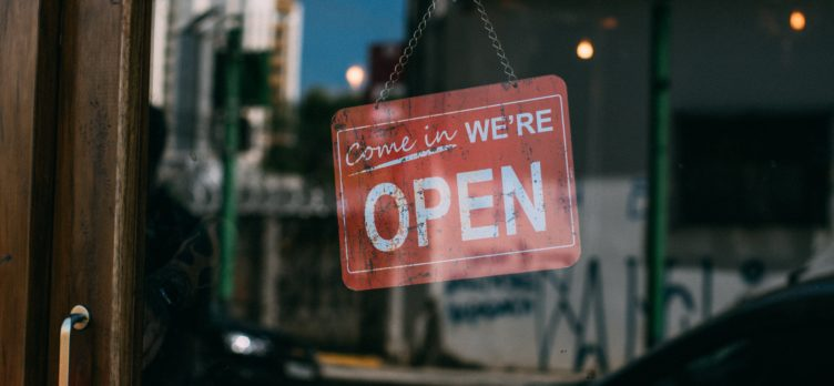 Small Business Door Opening Sign