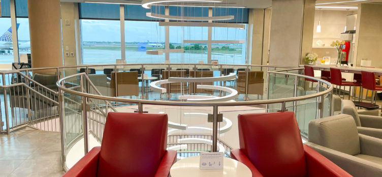 American Airlines Admirals Club at Orlando MCO chairs