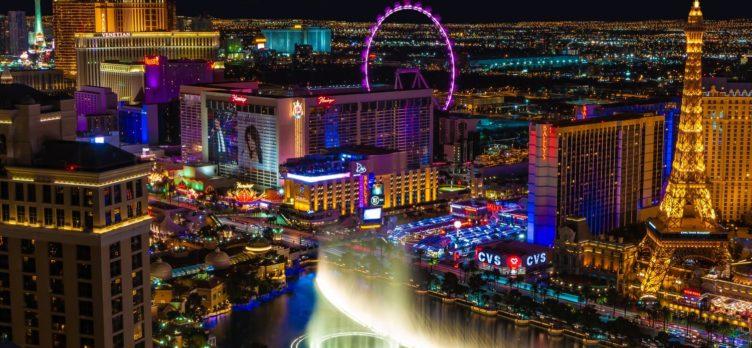 Las Vegas Strip Paris Ballys Harrahs Flamingo