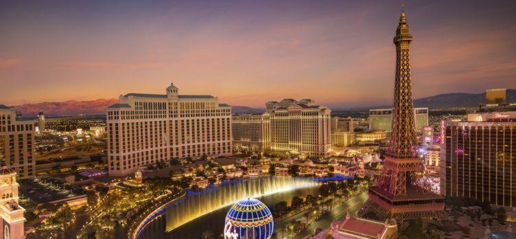 Las Vegas Strip Paris Bellagio Caesars