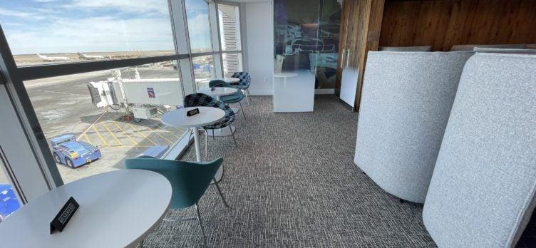 Centurion Lounge DEN Seating by Window