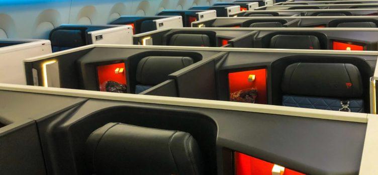 Delta One Suites A350 900 cabin closeup