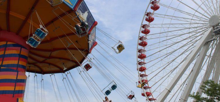Navy Pier Swing and Ferris Wheel Image Credit Melissa Askew via Unsplash