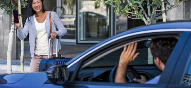 Uber airport passenger pickup