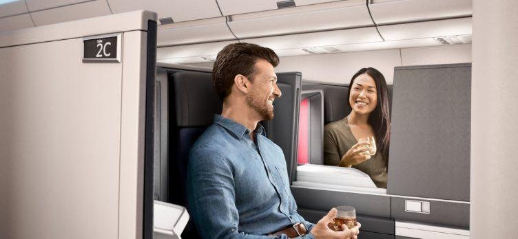 Delta One passengers talking