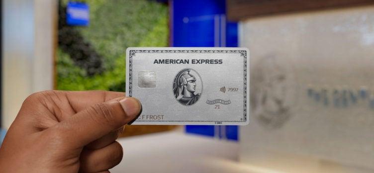 Amex Platinum card at Centurion Lounge