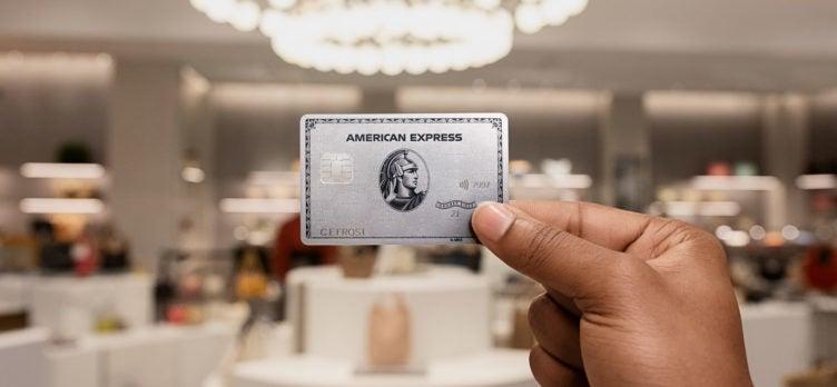 Amex Platinum card at retail