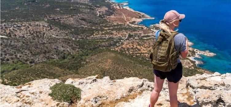Female hiking