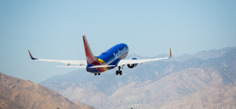 Southwest Airlines plane departing