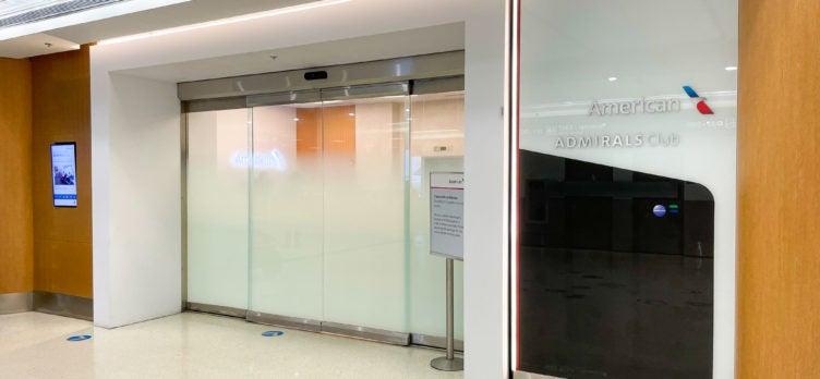 Admirals Club Miami International Airport Entrance
