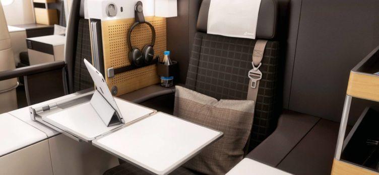 Swiss Air business class seat