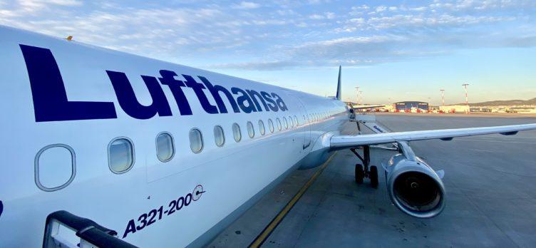 A Lufthansa A321 at Athens Airport