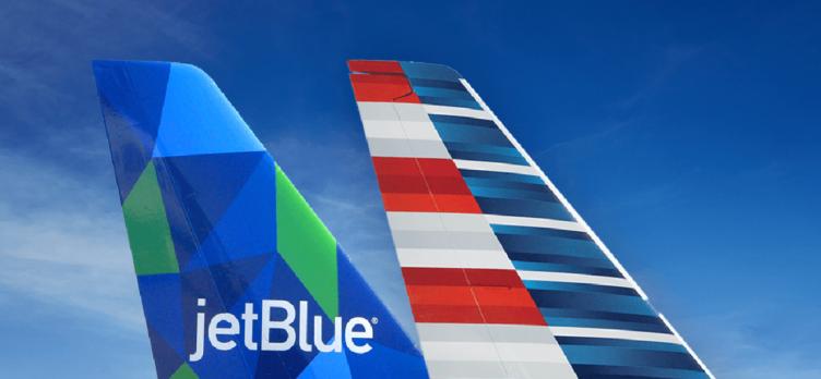 JetBlue American Tail Fins
